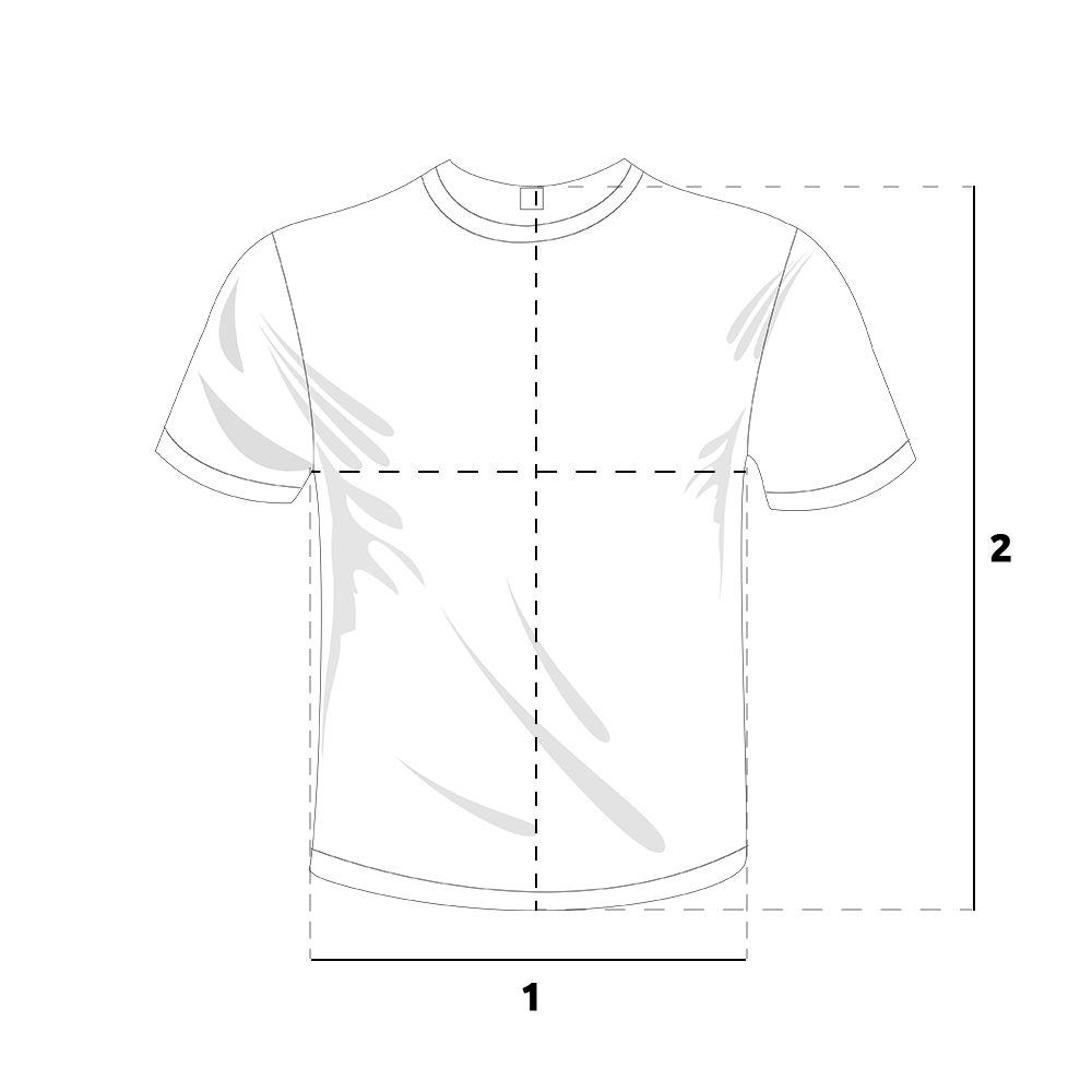 Camiseta Branca de Poliéster para Sublimação P - Largura 45   Altura 63. M  - Largura 50   Altura 65. G - Largura 50   Altura 70. GG - Largura 54    Altura 70 ddaf7e1e9a4c7