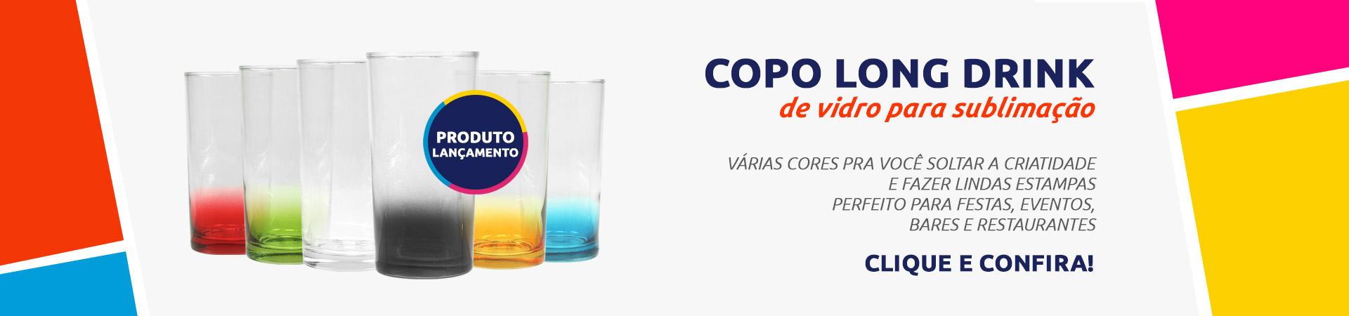 Copo long drink de vidro