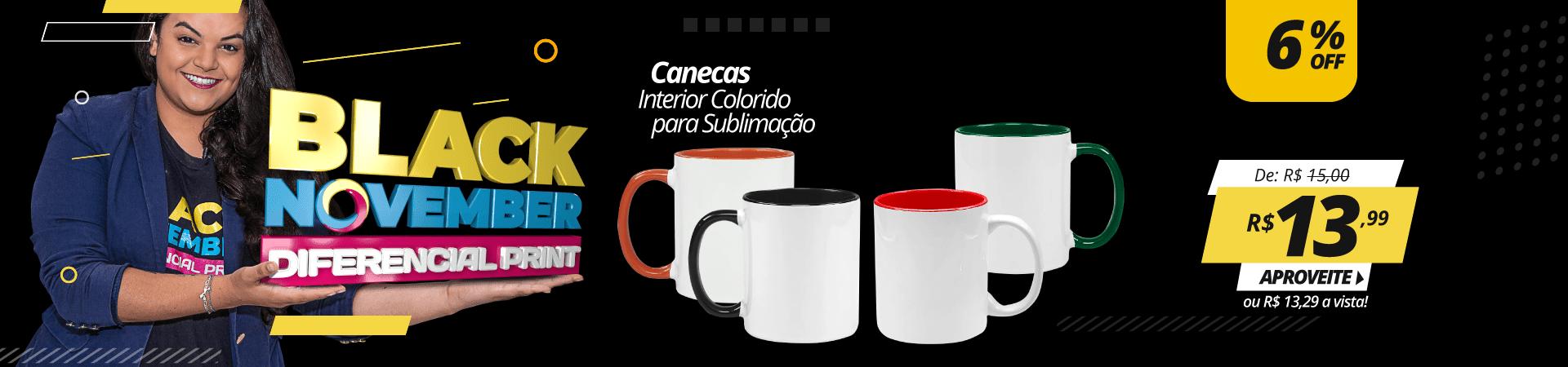 Black  November - Canecas interior Coloridas