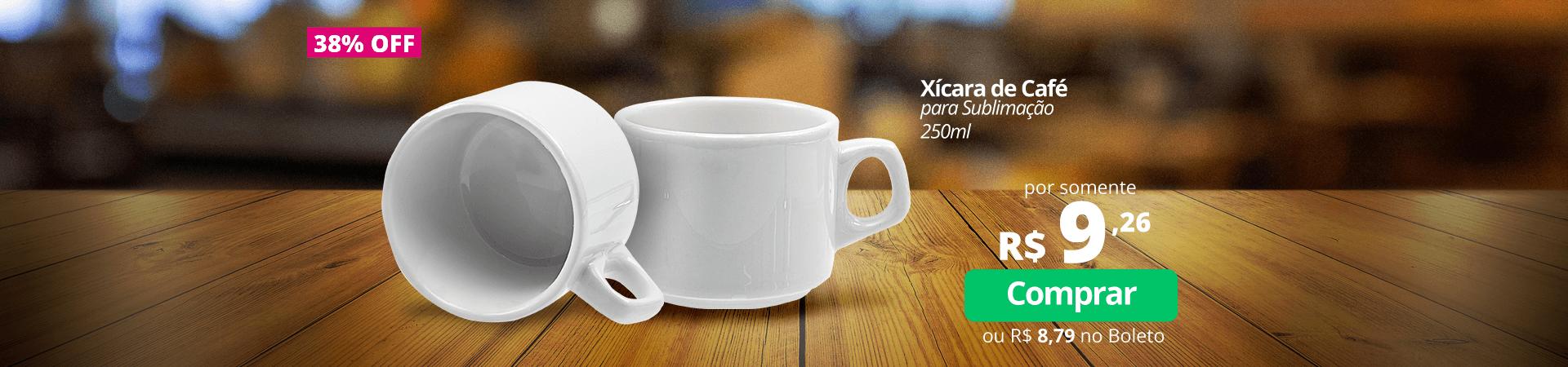 Xícara de Café para Sublimação 250ml